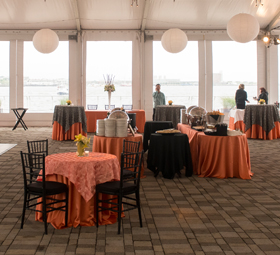 Harbor Terrace tent tables