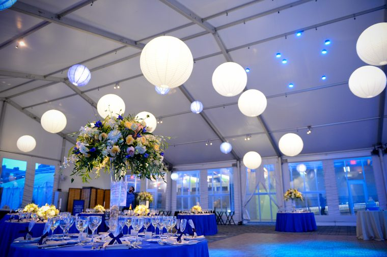 interior shot of private-event tent