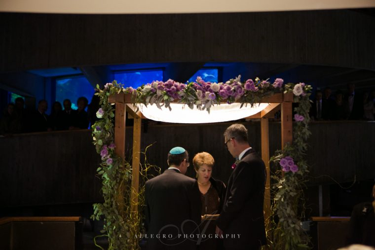 wedding ceremony in aquarium