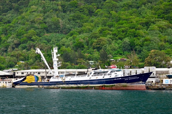 A Purse seiner docked in Pago Pago