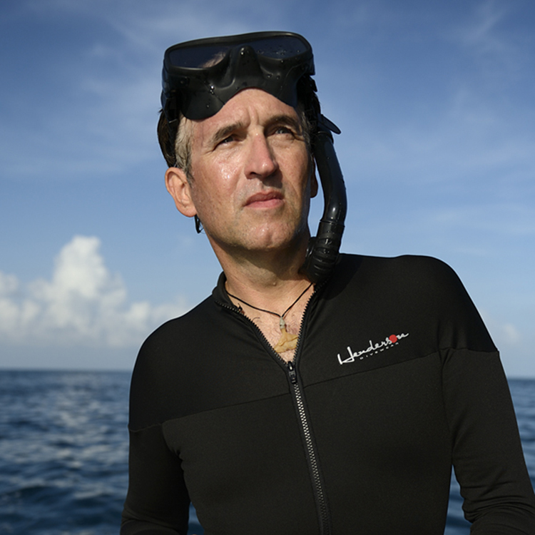 Brian Skerry in wetsuit