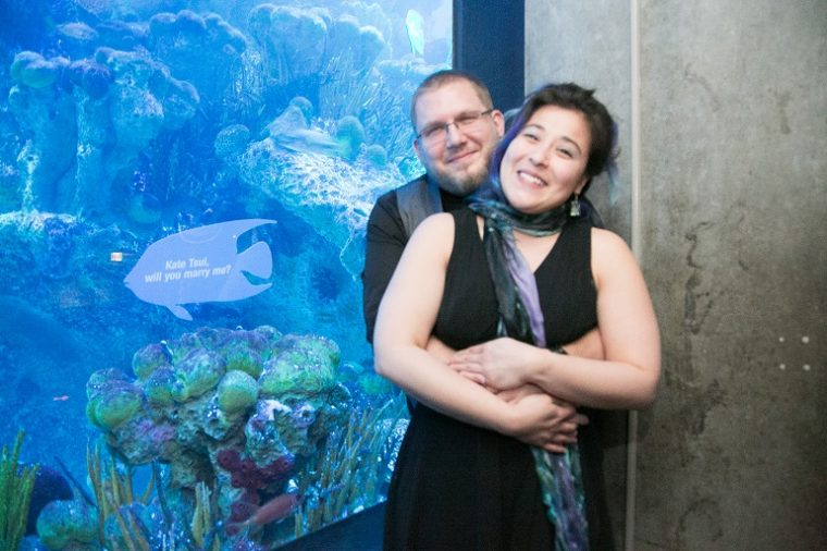 couple at That's A-Moray event 2018 couple who got engaged