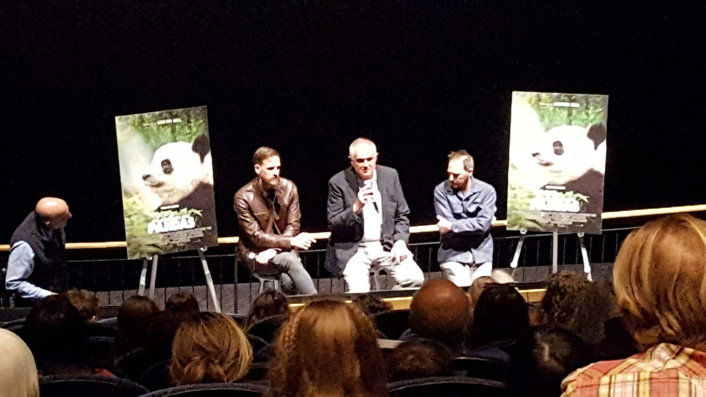 Aquarium members heard from people associated with the new movie Pandas 3D.