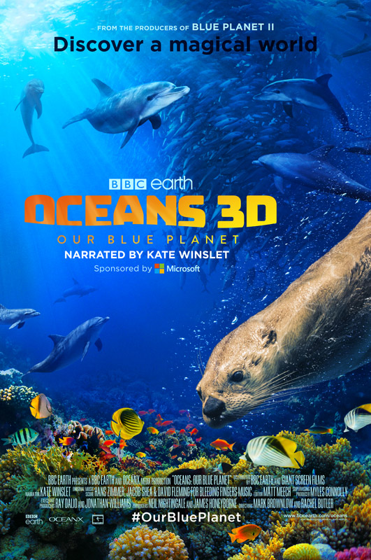 Oceans 3D movie poster