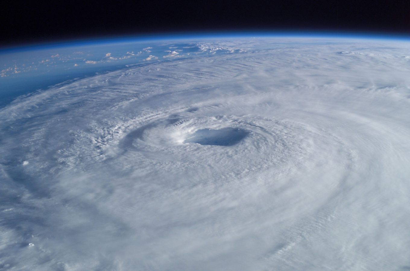 Hurricane Isabel in 2003 taken from International Space Station