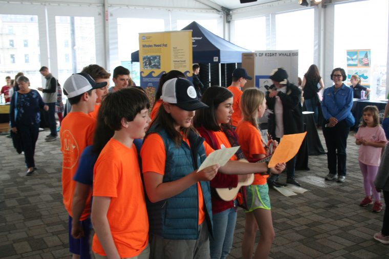 The Calvineers sing at the 2018 New England Right Whale festival.