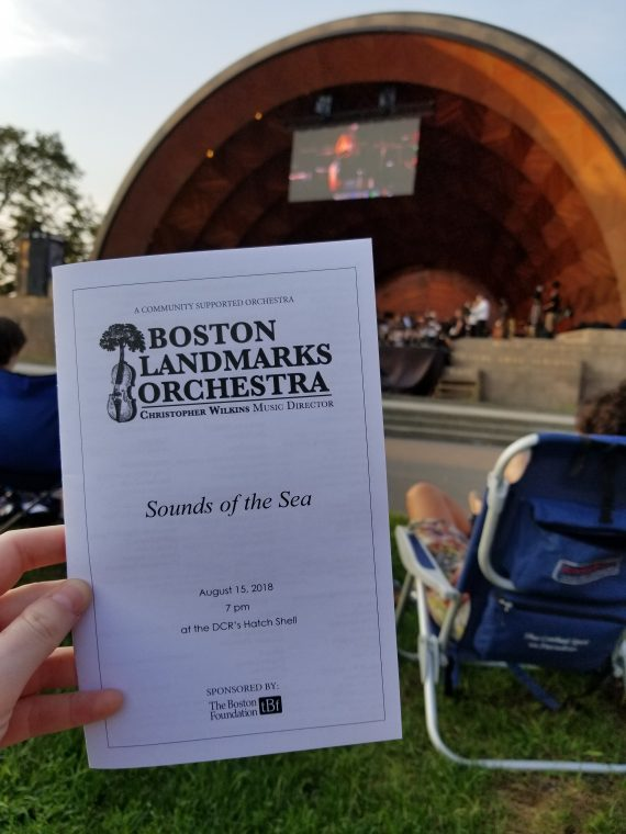 Boston Landmarks Orchestra's Sounds of the Sea concert.