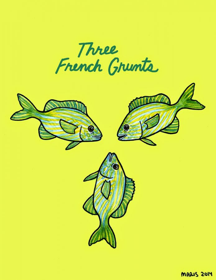 illustration of three grunts