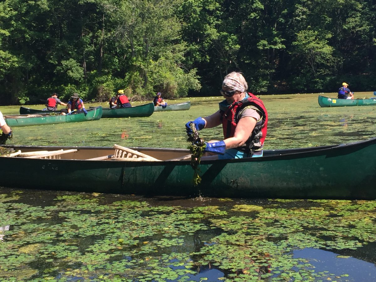 service corps leader in a canoe