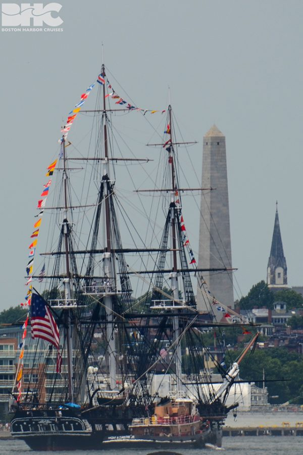 USS Constitution seen ob a whale watch