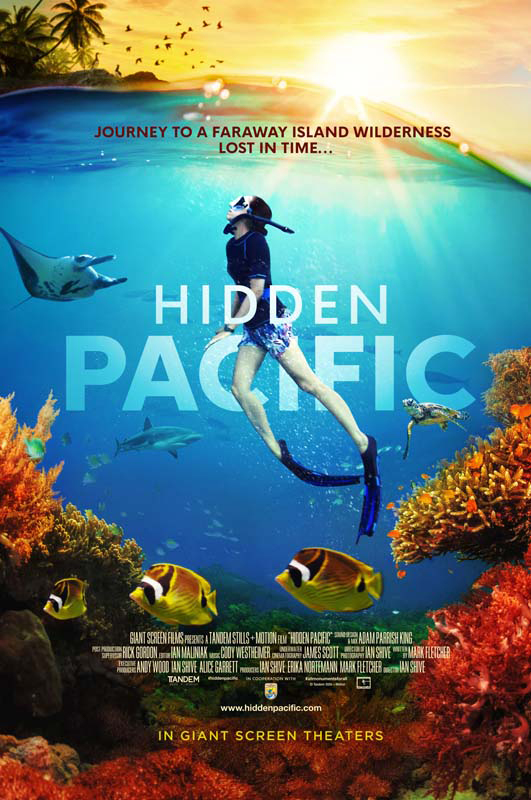 poster artwork for IMAX film Hidden Pacific