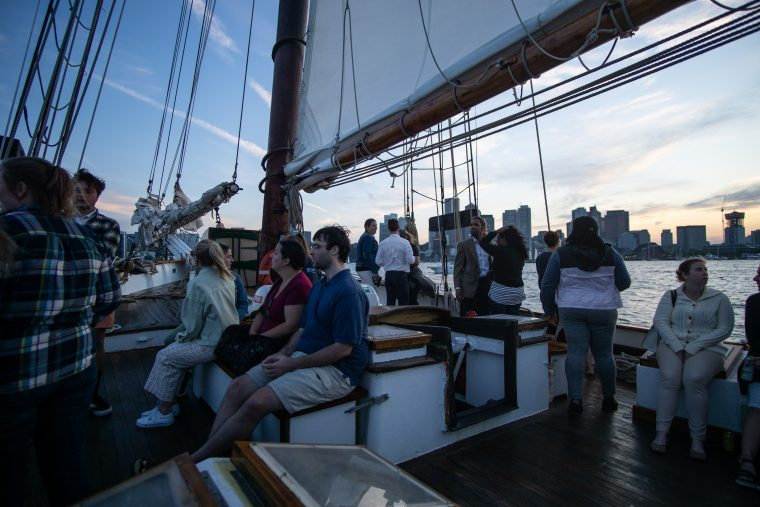 people aboard the Liberty Clipper during Cruise with The Tide 2019
