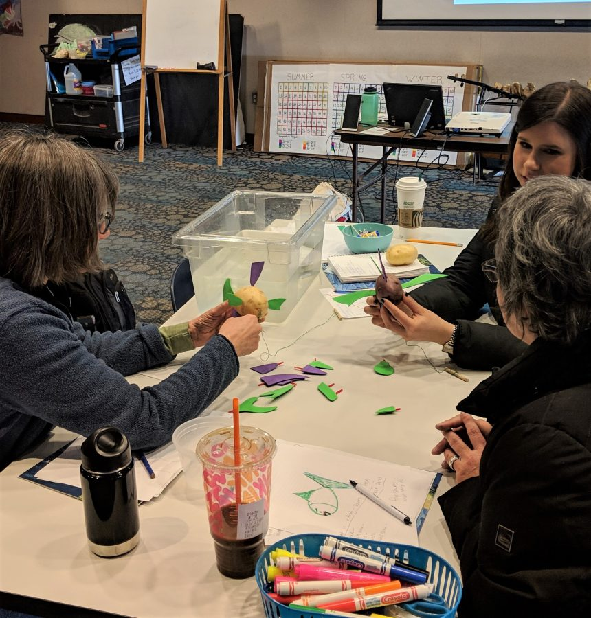 teachers participate in workshop Full STEAM Ahead: Ocean movements