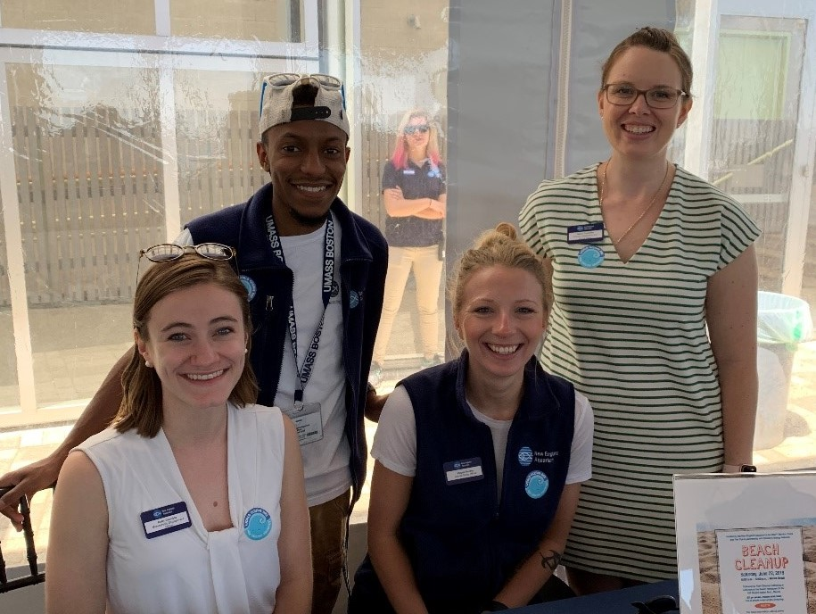 Staff at a table during World Oceans Day