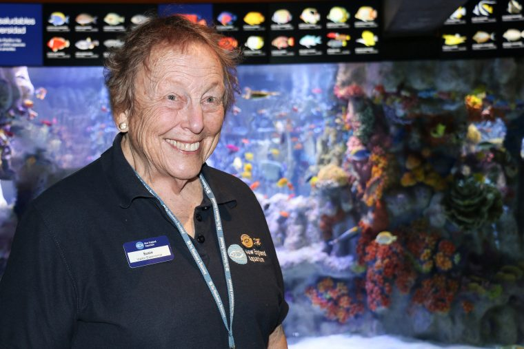Susie Buttrick, longtime Aquarium volunteer