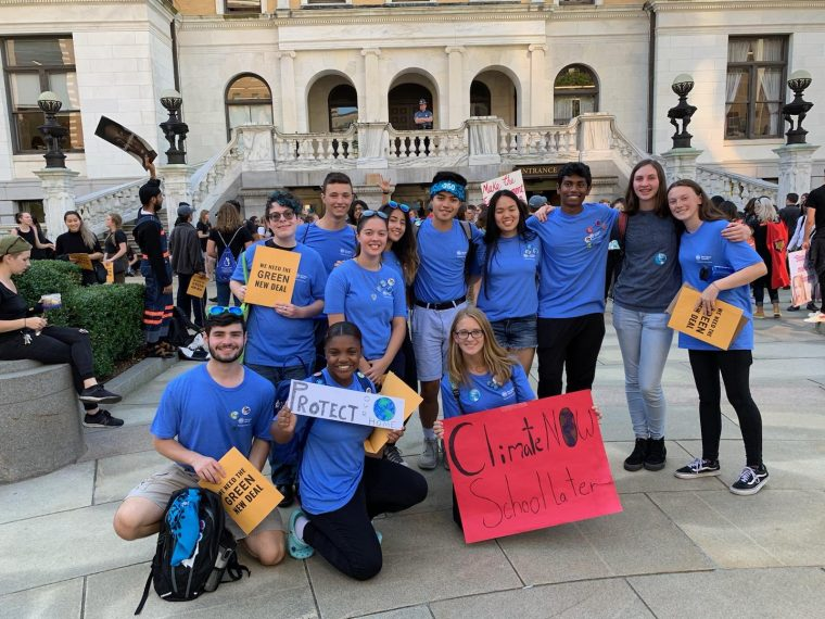 ClimaTeens outside the Massachusetts State House