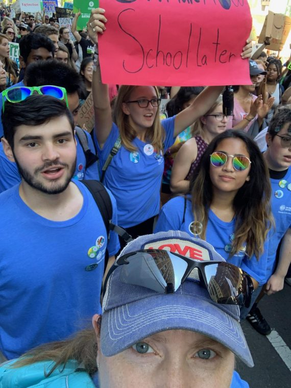 ClimaTeens at Boston Climate Strike ion September 2019