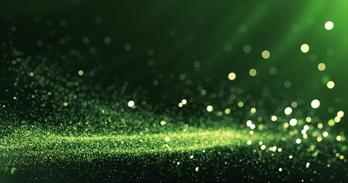 Defocused Particles Background (Green)