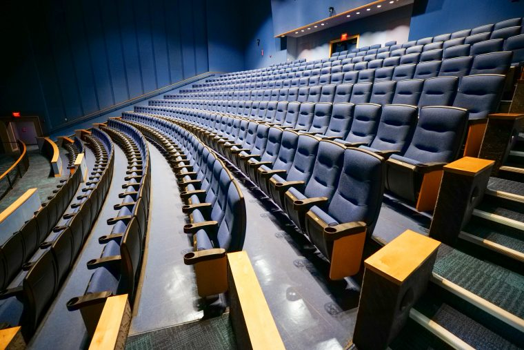 seats in renovated Simons Theatre