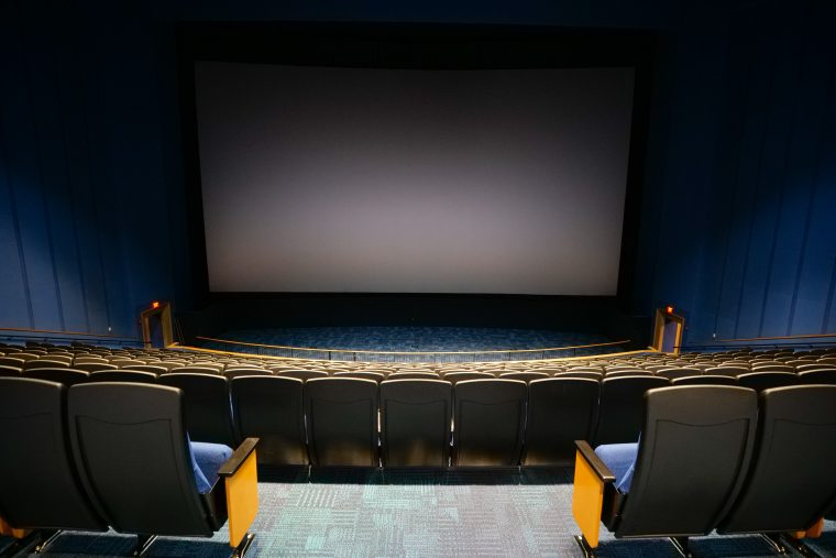 screen in renovated Simons Theatre